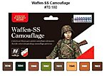 Waffen SS Camouflage Model Color Paint Set (8 Colors) -- Hobby and Model Paint -- #70180