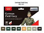 German Field Grey Uniform Model Color Paint Set (8 Colors) -- Hobby and Model Set -- #70181