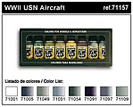 WWII USN Aircraft Model Air Paint Set (8 Colors) -- Hobby and Model Paint Set -- #71157