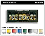 Basic Model Air Paint Set (8 Colors) -- Hobby and Model Paint Set -- #71174