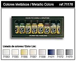 Metallics Model Air Paint Set (8 Colors) -- Hobby and Model Paint Set -- #71176