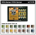 WWII German Model Air Paint Set (16 Colors) -- Hobby and Model Paint Set -- #71179
