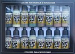 WWII Allied Forces Model Air Paint Set (16 Colors) -- Hobby and Model Paint Set -- #71180