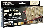 Old & New Wood Effects Paint Set -- Hobby and Model Paint -- #71187