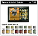 Extreme Modelling Tank Model Air Paint Set (16 Colors) -- Hobby and Model Pain -- #71190