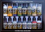 Building Model Air Paint Set (16 Colors) -- Hobby and Model Paint Set -- #71192