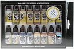 Weathering Model Air Paint Set (16 Colors) -- Hobby and Model Paint Set -- #71194