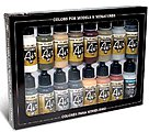17ml Bottle German WWII Europe & Africa (16 Colors) -- Hobby and Model Paint Set -- #71208