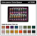 Extra Opaques Game Color Paint Set (16 Colors) -- Hobby and Model Paint Set -- #72290