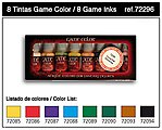 Inks Game Color Paint Set (8 Colors) -- Hobby and Model Paint Set -- #72296