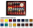 Advanced Game Color Paint Set (16 Colors) -- Hobby and Model Paint Set -- #72298