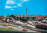 Six Stall Roundhouse Kit -- HO Scale Model Railroad Building -- #45758