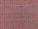 Stone Pattern Embossed Paper Red Brick -- HO Scale Model Railroad Building Accessory -- #46042
