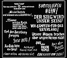 WWII German Wall Slogans -- Plastic Model Military Decal -- 1/35 Scale -- #0165