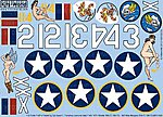P40 Fifnella, Miss Memphis -- Plastic Model Aircraft Decal -- 1/32 Scale -- #132037