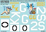 B24H 486th BG Virgo, Pisces Zodiacs -- Plastic Model Aircraft Decal -- 1/48 Scale -- #148023