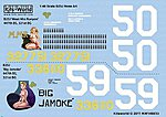 B25J Meet Mrs Runyon, Big Jamoke -- Plastic Model Aircraft Decal -- 1/48 Scale -- #148033