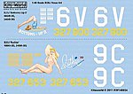 B25J Bottoms-UP II, Ruthie -- Plastic Model Aircraft Decal -- 1/48 Scale -- #148034
