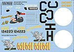 B24s Doodlebug, Screamin Mimi -- Plastic Model Aircraft Decal -- 1/48 Scale -- #148044