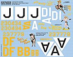 B17 Betty Boop, Pistol Packin Mama & B17G Pist'l Packing Mama -- Decal -- 1/48 -- #148048