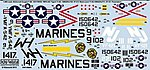 McDonnell F4B Phantom Tigers, Black Lions, Pacemakers -- Model Aircraft Decal -- 1/48 -- #148095