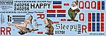 B24D Happy, Sleepy, The Squaw -- Plastic Model Aircraft Decal -- 1/48 Scale -- #148123