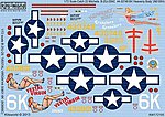 B25J Heavenly Body, Vestal Virgin -- Plastic Model Aircraft Decal -- 1/72 Scale -- #172105