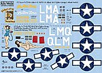 P47D 56thFG Stalag Luft III, Button Nose, Triss -- Plastic Model Aircraft Decal -- 1/72 -- #172129