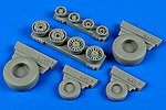 F14B/D Tomcat Weighted Wheels for HBO -- Plastic Model Aircraft Accessory -- 1/48 Scale -- #148012