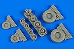 F14A Tomcat Weighted Wheels for HBO -- Plastic Model Aircraft Accessory -- 1/48 Scale -- #148013