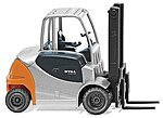 Still RX 60 Forklift (Silver, Yellow) -- HO Scale Model Railroad Vehicle -- #66360