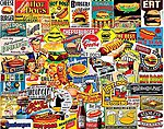 Burgers & Hot Dogs Collage Puzzle (1000pc)