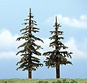 Lodegpole Pines 5-6'' pkg(2) -- Ready Made Premium Trees -- Model Railroad Tree -- #1628