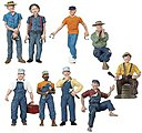 Scenic Accents -- G Scale Figures Add-On Assortment - 2 Each of 3 - #2548 - #2550(6) -- #2517