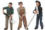 Scenic Accents Rail Workers -- G Scale Model Railroad Figures -- #2562