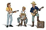 Scenic Accents(R) Figures -- Pickin' & Grinnin' -- G Scale Model Railroad Figure -- #a2546