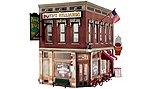 Corner Emporium -- O Scale Model Railroad Building -- #br5844
