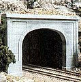 Concrete Double Portals (2) -- N Scale -- Model Railroad Tunnel -- #c1156