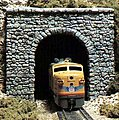 Random Stone Single Portal -- HO Scale -- Model Railroad Tunnel -- #c1255