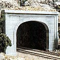 Concrete Double Portal -- HO Scale -- Model Railroad Tunnel -- #c1256