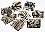 Assorted Skids (15) -- HO Scale Model Railroad Building Accessory -- #d204