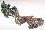 Tractor & Disc Plow Metal Cast Kit -- HO Scale Model Railroad Vehicle -- #d207
