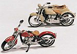 Motorcycles & Sidecar Kit -- HO Scale Model Railroad Vehicle -- #d228