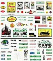 Dry Transfer -- Series One Signs & Posters -- Model Railroad Decal -- #d245