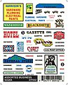 Assorted Business Signs -- Model Railroad Decal -- #dt552