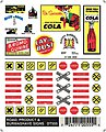 Road/Product/Burmashave Signs -- Model Railroad Decal -- #dt555