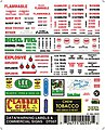 Data Warning Labels & Commercial Signs -- Model Railroad Decal -- #dt557
