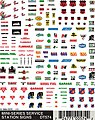 Service Station Signs Decal Sheet -- Model Railroad Decal -- #dt574