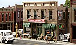 Pre-Fab Building -- Fresh Market HO Scale -- HO Scale Model Railroad Building -- #pf5180