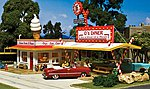 Pre-Fab D's Diner HO Scale -- HO Scale Model Railroad Building -- #pf5188
